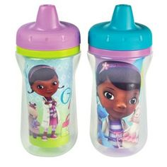 disney cups These Disney Doc McStuffins sippy cups feature an insulated design that keeps beverages just the right temperature. Disney Cups, Baby Disney, Disney Girls, Disney Tassen, Doc Mcstuffins, Disney Junior, Baby Bottles, Baby Feeding, Future Baby