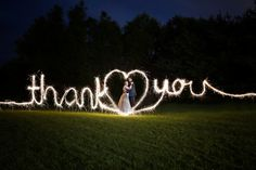 "Jessica Kranz Photography can add a special effects sparkler ""light writing"" photo into your wedding package in central Ohio. Ask how!"