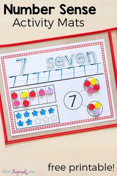 Number sense is so important. That's why I made these number sense activity mats for my kids. Make learning numbers hands-on and engaging for your kids too!