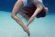 """Mermaid Yoga: Incredible, Underwater Instagram Photos #refinery29  http://www.refinery29.com/underwater-yoga-instagram#slide-5  Trubridge and her husband William (a world-champion freediver) created the TruBlue Foundation to protect the ocean. """"To represent the human connection to the sea...to view it as a reflection of our own selves,"""" reads the mission statement. They regularly hold beach cleanups and are working on raising awareness a..."""