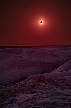 The sun is eclipsed by the moon