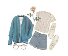 """rainy day"" by subgrnre ❤ liked on Polyvore featuring PèPè, James Perse, Converse and vintage"