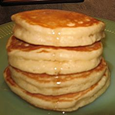 Fluffy Pancakes Recipe | Key Ingredient: turned out really good!  This might have to be the staple pancake recipe for my family.