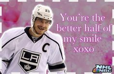 """A valentine from @NHLonNBCSports to you, """"You're the better half of my smile. xoxo""""  #NHL #ValentinesDay #lakings"""