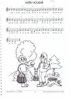 vašík houbař písnička houby Music Do, Kids Songs, Music Notes, Poems, Autumn, Comics, Learning, Sheet Music, Classroom