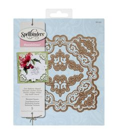 Now you can easily create beautiful die-cuts using the Spellbinders Nestabilities Pack Of 5 Decorative Elements Dies-Reverent Square. With the 3-in-1 functions of this set of dies, you can cut, emboss