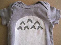 Totoro Baby Onesie Hand Painted by MithrilSheep on Etsy, $28.99