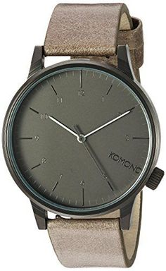 Women's Wrist Watches - KOMONO Winston Regal Quartz Stainless Steel and Leather Dress Watch ColorGrey Model KOMW2256 *** Click on the image for additional details. (This is an Amazon affiliate link)