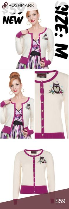Voodoo Vixen Owl Pin Up Clothing Cardigan Sweater New Voodoo Vixen Owl Pin Up Cardigan Sweater!  ❤New with Tags ❤Styles: pinup retro 1950s 40s Kawaii Girl cosplay  #C9 Voodoo Vixen Sweaters Cardigans