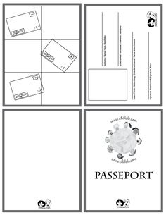 passport french - passport template - passport for kids -  passport - www.chillola.com