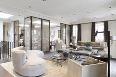 LONDRES - EATON PLACE - DUPLEX | LONDON - EATON PLACE - DUPLEX Jean Louis Deniot sheer room divider panels