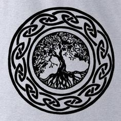 Irish Tree of Life - The Tattoo Collection - heather - womens fitted tshirt via Etsy