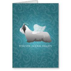 Skye Terrier Angel Design Greeting Card