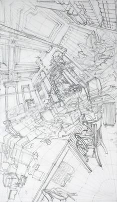 Archives, Marine Terrace, drawing by Rorik Smith, 2012