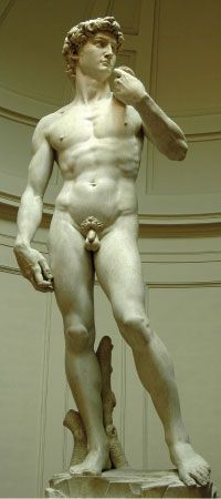 Michelangelo's Masterpiece in Sculpture:  The David...  In Florence, Italy...  Breathtaking is not strong enough.  Made me weep!