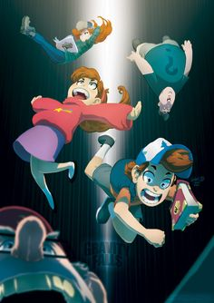 "I like how Stan and Dipper are totally panicking, Mabel and Soos are like ""Weeeee!"" And Wendy's like ""Whatever."""