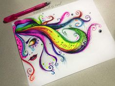 Michelle Curiel is an artist who lives in Hollywood, CA. She is a lady of many talents but I greatly enjoy her colorful sketchbook illustrations. It seems as if it is a way for her to vent and rela…