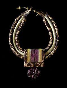 Gretchen Schields Fine Art Jewelry   www.gretchen-schields.com   PURPLE CLOUD BATIK  