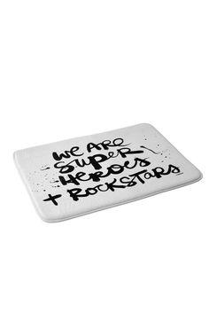 Kal Barteski Superheroes Memory Foam Bath Mat | DENY Designs Home Accessories