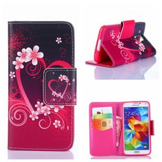 Leather Cover Cases For SAMSUNG GALAXY S3 MINI I8190 S4 I9500 I9190 S5 I9600 S5MINI Cell Phone !Fashion luxury Wallet Flip Coque