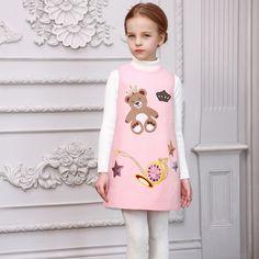 $26.98 (Buy here: https://alitems.com/g/1e8d114494ebda23ff8b16525dc3e8/?i=5&ulp=https%3A%2F%2Fwww.aliexpress.com%2Fitem%2F2016-New-Princess-Dress-Robe-Fille-Winter-Girls-Dress-of-Sequins-Kids-Dresses-for-Girls%2F32713089868.html ) 2016 New Princess Dress Robe Fille Winter Girls Dress of Sequins Kids Dresses for Girls Clothes Bear Embroidery Children Dress for just $26.98