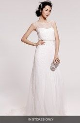 Rosa Clara 'Ugo' Beaded Sheath Gown (In Stores Only)