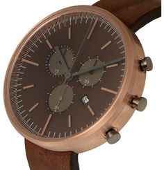 Uniform Wares302 Series Chronograph PVD Rose Gold Wristwatch