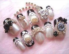 Nail Art Designs With Diamonds Blue Diamond Ontario Nails ...