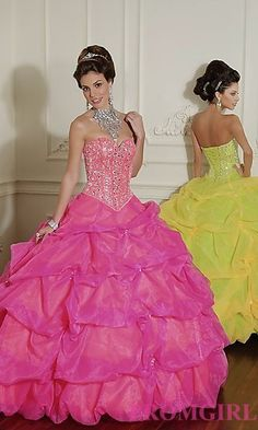 Beaded Organza Quinceanera Dress by Mori Lee at PromGirl.com #promgirl #quinceanera #gown