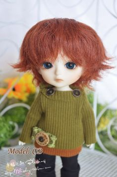 Welcome :)    bjd doll wig - L-15    Size: 14cm, 12cm   Suggested Doll for 14cm : DZ Leo Luna, Lati Yellow, Luts Tiny Delf, FL pukifee, iXdoll , CB T