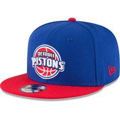 Men s New Era Blue Red Detroit Pistons 2-Tone Original Fit 9FIFTY  Adjustable Snapback Hat 4ac4c7890af