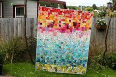 Scrappy Rainbow quilt | milky beer