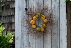 Decorating the Fall Harvest http://www.shopterrain.com/harvest_decor #pumpkin #wreath