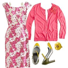"""Emma's Closet Coral Yellow"" by lilbailey on Polyvore"