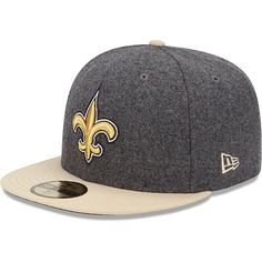 Men's New Era New Orleans Saints Melton Basic 59FIFTY® Structured Fitted Hat - NFLShop.com
