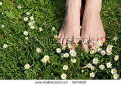 The Best Things In Life Are The Simple Things - Womans Feet On ...