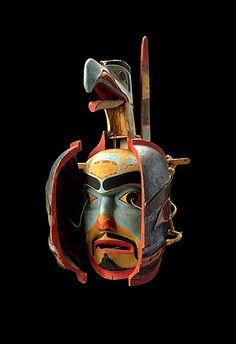 Transformation mask (open), Haida Gwaii (Canada), 19th century
