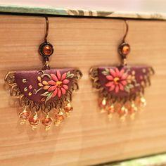 'Chloe' Earrings #handcrafted #polymerclay #TresorBelle #jewellery #jewelry