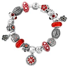 Love the red - so many awesome Pandora charms. This strawberry charm may not be red but we know.....