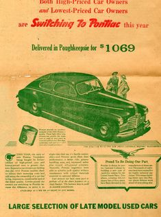 old car advertising posters