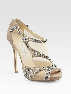 embellished open-toe sandal, Jimmy Choo.