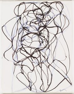 Aphrodite Study,  Brice Marden (American, born 1938) - 1992-93. Ink and gouache on paper