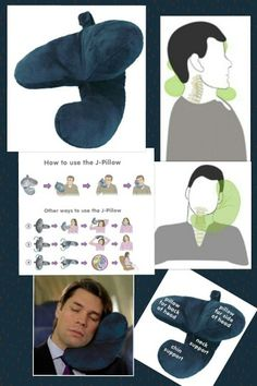 BEST (and innovative) NEW NECK PILLOW: this travel pillow offers a new shape to support not only the back of the neck but both the back and front of the head for leaning support.