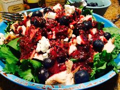 Food Fitness by Paige: Grilled Chicken and Bacon with Feta and Blueberry ...