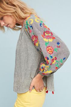 Floreat Embroidered Soleil Top