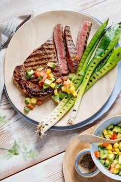 Irish Beef, Steaks, Tuna, Avocado, Bbq, Mango, Fish, Meat, Dinner