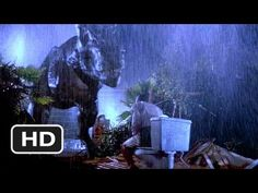 Jurassic Park - Tyrannosaurus Rex (1993)  T-Rex ruins the jeep and snatches the gentleman right off the toilet ! That scene blew me away because of its realism. Two thumbs up for Stan Winston and his crew for creating a Full Size Animatronic Tyrannosaurus Rex and then operate it in such a way that you really feel for the actors.
