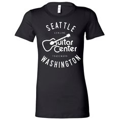Guitar Center Ladies Seattle Fitted Tee Small