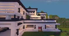 Modern Mansion - Cliff Side Escape Minecraft 13