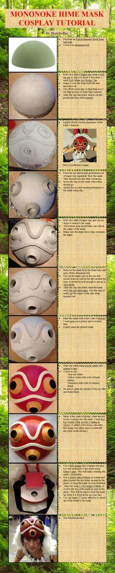 Mononoke Hime MaskTutorial by SketchyRay.deviantart.com on @deviantART